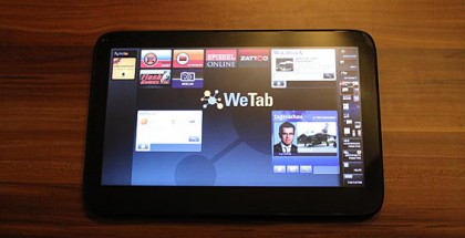 WeTab Hands On