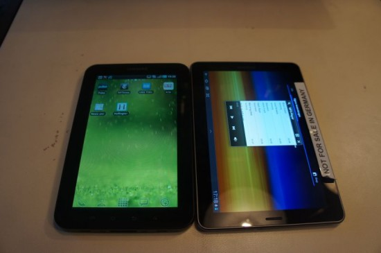 tablet vergleich samsung galaxy tab 7 7 vs galaxy tab. Black Bedroom Furniture Sets. Home Design Ideas