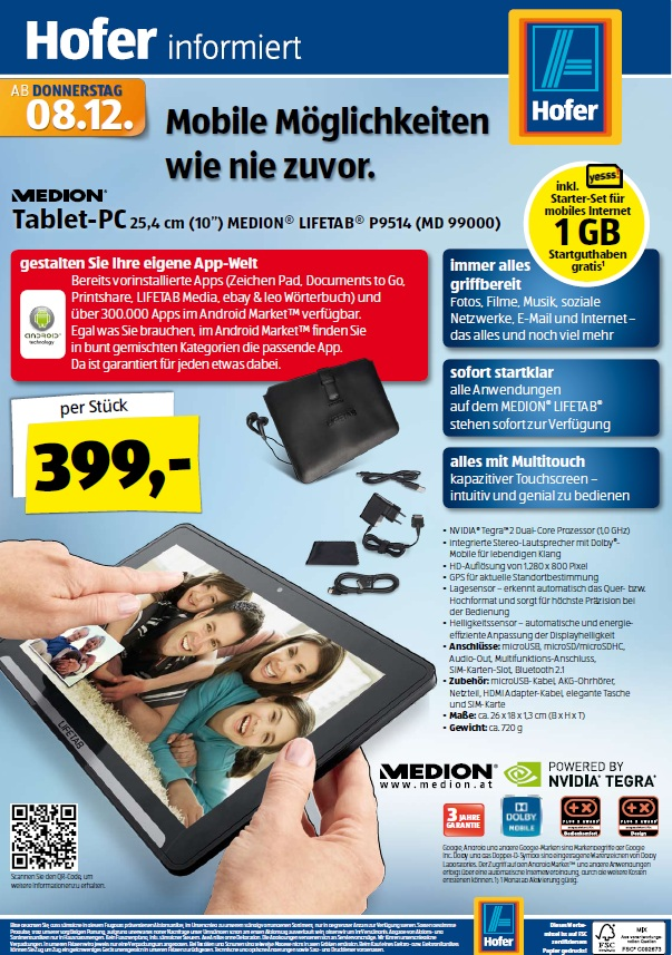 medion lifetab aldi tablet ab 8 dezember in sterreich. Black Bedroom Furniture Sets. Home Design Ideas