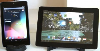 Google Nexus 7 vs Transformer Infinity