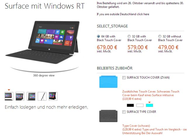microsoft surface kostet in deutschland 479 euro so viel. Black Bedroom Furniture Sets. Home Design Ideas