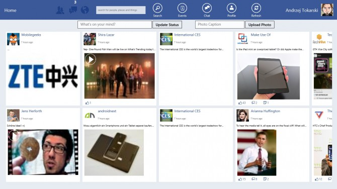 Facebook App für Windows 8