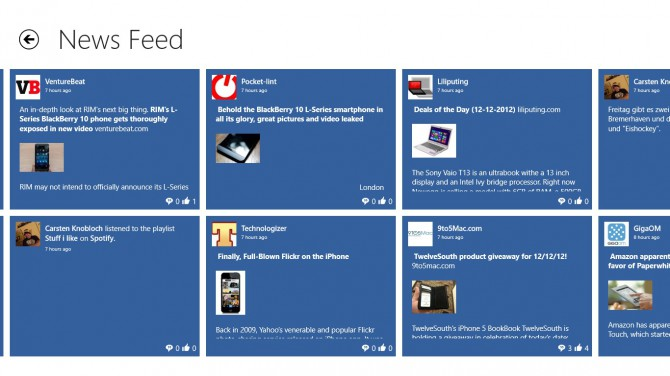 My Social Facebook App für Windows 8