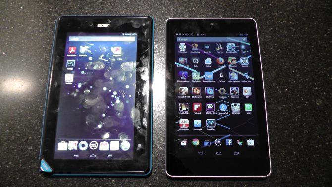 Acer Iconia Tab B1 vs Google Nexus 7