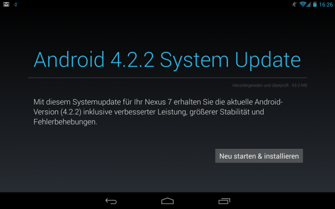 Google Nexus 7 Android 4.2.2