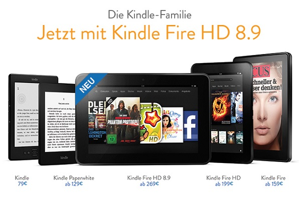 Amazon Kindle Fire HD 8,9 Zoll Tablet