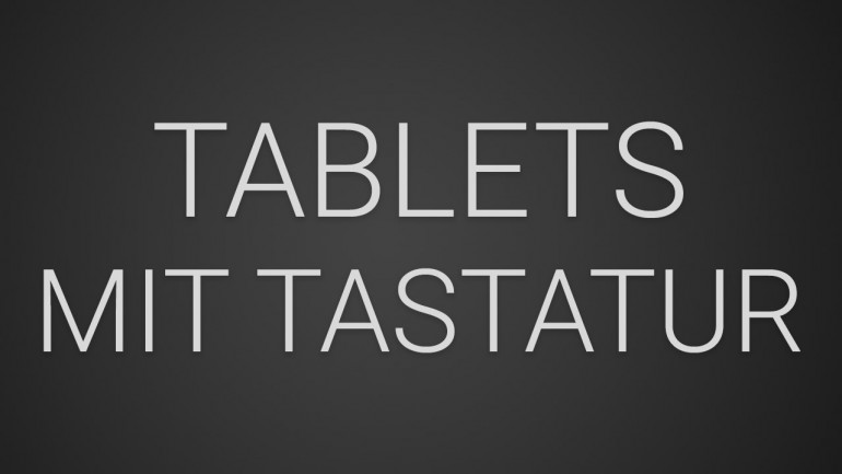 Tablets mit Tastatur Dock