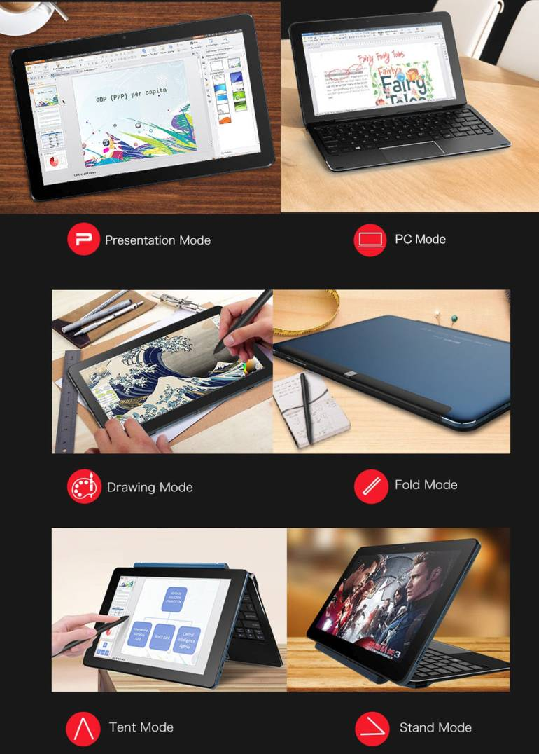 cube i7 book g nstiges windows tablet mit tastatur stylus. Black Bedroom Furniture Sets. Home Design Ideas