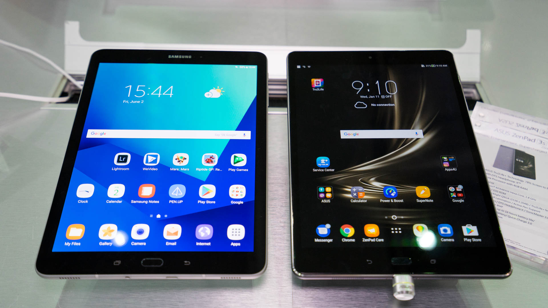 vergleich samsung galaxy tab s3 vs asus zenpad 3s 10. Black Bedroom Furniture Sets. Home Design Ideas