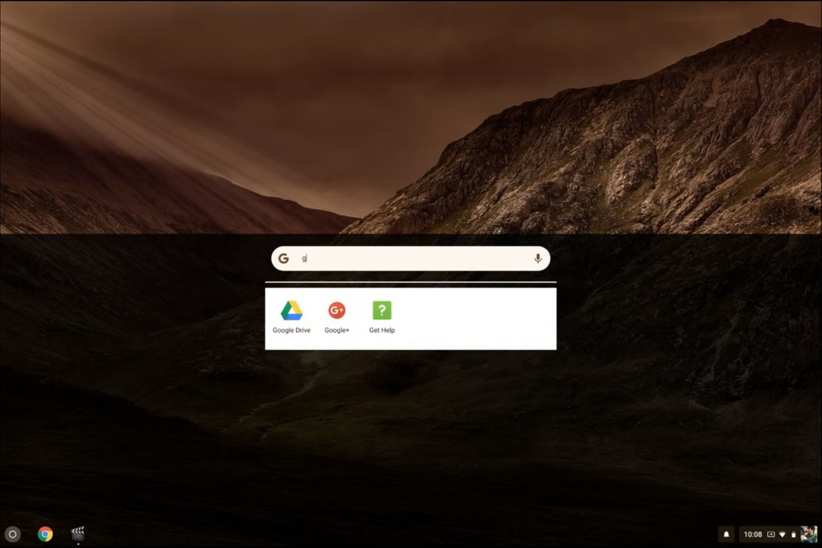 Chrome OS Touch Launcher