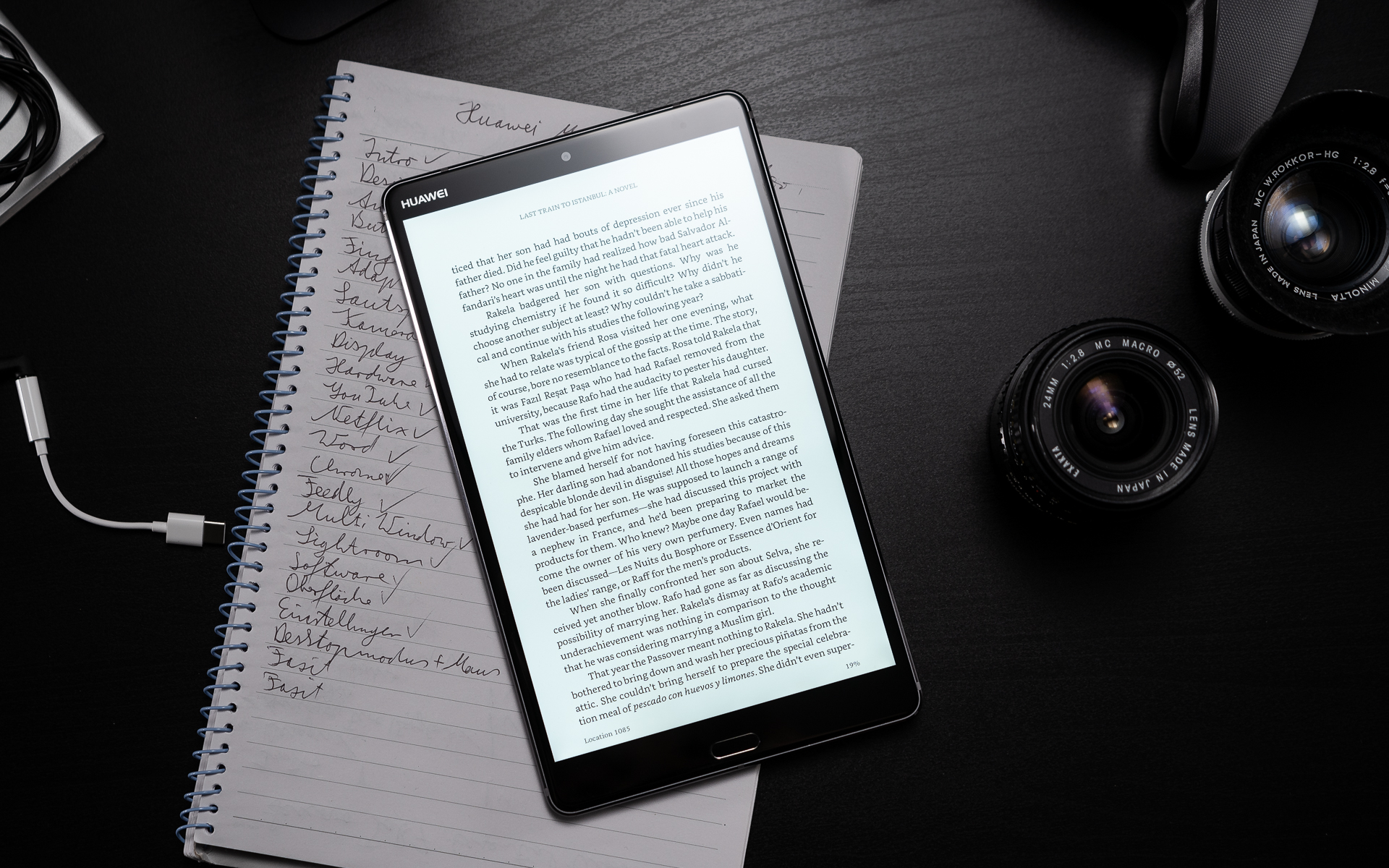 Huawei MediaPad M5 8 mit Amazon Kindle